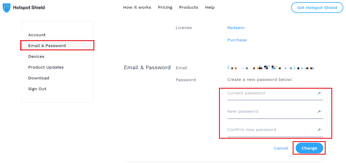 Changing or resetting your password – Hotspot Shield Help Center