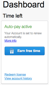 Auto-pay active